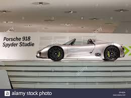 porsche spyder 918 germany stuttgart porsche museum spyder 918 concept car stock