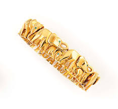 cartier jewelry bracelet images An 18ct gold 39 elephant 39 bracelet by cartier jewelry bracelet jpg