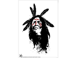indian warrior from westerns sugar skull indian