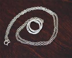 sterling silver ring necklace images Sterling silver interlocking rings necklace s0339 jpg