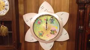 Clock Shop Rhythm 4jh663rh34 Floral Fantasy Wall Clock At Champ U0027s Clock Shop