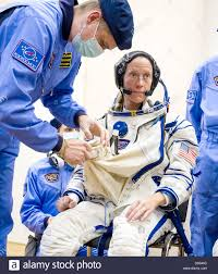 iss expedition 36 nasa astronaut karen nyberg is helped into her