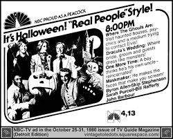 vintage toledo tv halloween ads real people halloween show