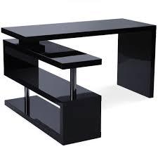 bureau noir laque