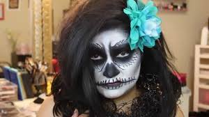easy scare crow sugar skull scary face halloween makeup look
