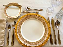 Informal Table Setting by This Is A Standard And Correctly Set 4 Course Table Setting The
