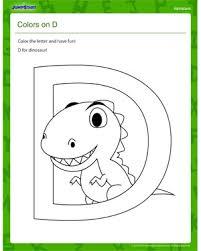 color and have fun letter d worksheet u2013 download free pdf