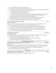 Resume Template For Hospitality Resume Templates For The Modern Household Manager