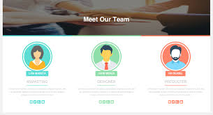 bootstrap design how to create responsive meet our team page design using bootstrap
