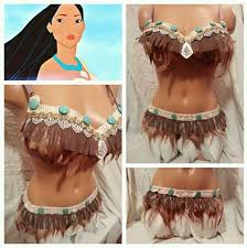 Halloween Costumes Indians Pocahontas Feather Indian Costume Rave Bra Edc
