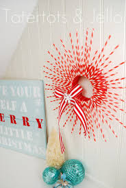 Paper Christmas Decorations To Make At Home by Striped Straw Wreath Woman U0027s Day Has One On The Cover This Month