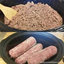ground beef in the crock pot the sparrow u0027s home