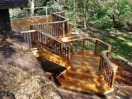Deck Stairs Design Ideas Cedar Deck Photos 4 Quarters Design U0026 Build