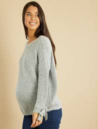 knit maternity sweater maternity heathered grey kiabi 25 00eur