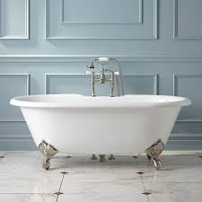 sanford cast iron clawfoot tub imperial feet bathroom double ended design that encourages reclining at either end set upon glorious imperial feet this tub has a porcelain enamel interior with a beautiful