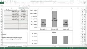 Loan Spreadsheet Template by Loan Comparison And Emi Payment Calculator Excel Template Youtube