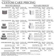 cake prices best 25 cake pricing ideas on cake serving chart