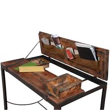 Rustic Wood Desk Rustic Iron And Wood Desk Industrial Chic