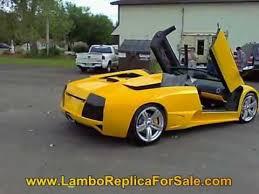 lamborghini murcielago replica kit car lamborghini murcielago lp640 replica 350 v 8 kit car yellow paint