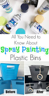 Best Spray Paint For Plastic Chairs Spray Painting Plastic Bins Answering Your 1 Question Spray