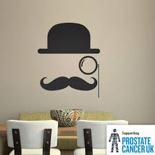 heart wall stickers love wall decor bowler hat moustache wall stic