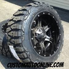mudding tires custom automotive packages off road packages 20x12 fuel