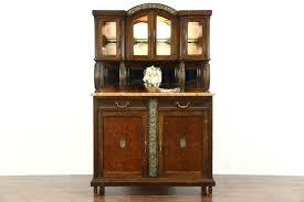 art deco china cabinet sold art deco 1920 antique marble top server sideboard china