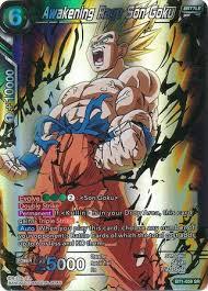 awakening rage son goku bt1 059 super rare dragon ball super