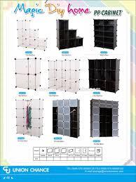 Plastic Storage Cabinet 16 Grid Magic Diy Pp Cube Cabinet Plastic Storage Cabinet With