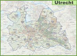 netherlands map cities map of utrecht province with cities and towns