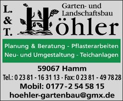 garten und landschaftsbau hamm höhler lars u torsten gbr garten und landschaftsbau 59067