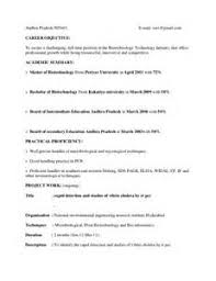 Microbiologist Sample Resume Sample Resume For Fresher Microbiologist Resume Ixiplay Free