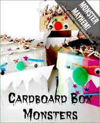cardboard box monsters u2013 halloween crafts for kids our little