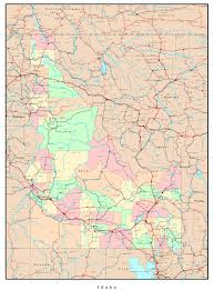 map of idaho cities large administrative map of idaho with roads highways and major
