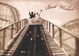 wedding wishes adventure just married roller coaster premium wedding marriage
