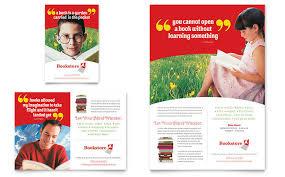 bookstore u0026 library flyer u0026 ad template design