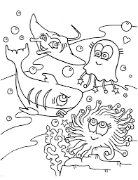 coloring pages animals sea animal printable kids ocean to pri