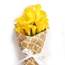 calla bouquets yellow calla bouquet order now at calcallas