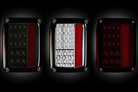 Jeep Jk Tail Light Covers Recon 264234bk Smoked Led Tail Lights For Jeep Wrangler Jk