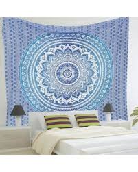 amazing deal indian blue mandala tapestry beach towel bohemian