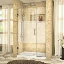40 Shower Door Shop Dreamline Unidoor Plus 40 In To 40 5 In W Frameless Brushed