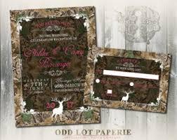 Camouflage Wedding Invitations Camo Wedding Etsy