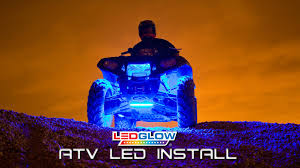 Install Led Light Strip by Ledglow How To Install Atv Led Lights Youtube