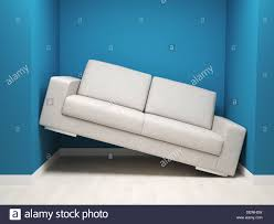Narrow Leather Sofa 3d Image Of Leather Sofa In Narrow Space Stock Photo Royalty Free