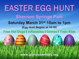 easter hunt eggs grand assembly easter egg hunt at shannon springs march 31