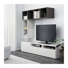 ikea besta bestå eket tv storage combination white black brown high gloss