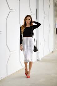 pencil skirts how to style tea length pencil skirts 2018 fashiontasty