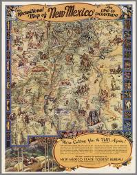 Map New Mexico by Recreational Map Of New Mexico The Land Of Enchantment David