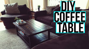 Diy Wooden Coffee Table How To Create A Diy Wooden Coffee Table Diy Crafts And Projects