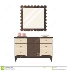 Mirror Chest Of Drawers Chest Of Drawers Icon With Mirror And Decoration Bedroom Interior